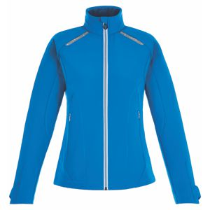 Ash City 78693 North End Sport Red Ladies' Excursion Soft Shell Jacket with Laser Stitch Accents