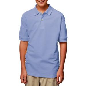 Blue Generation BG5204 Youth Short Sleeve Pique Polo Shirt