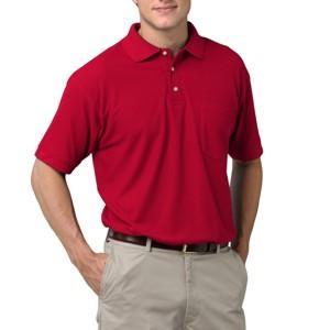 Blue Generation BG7202 Men's Teflon Treated Pique Polo Shirt  with Pocket