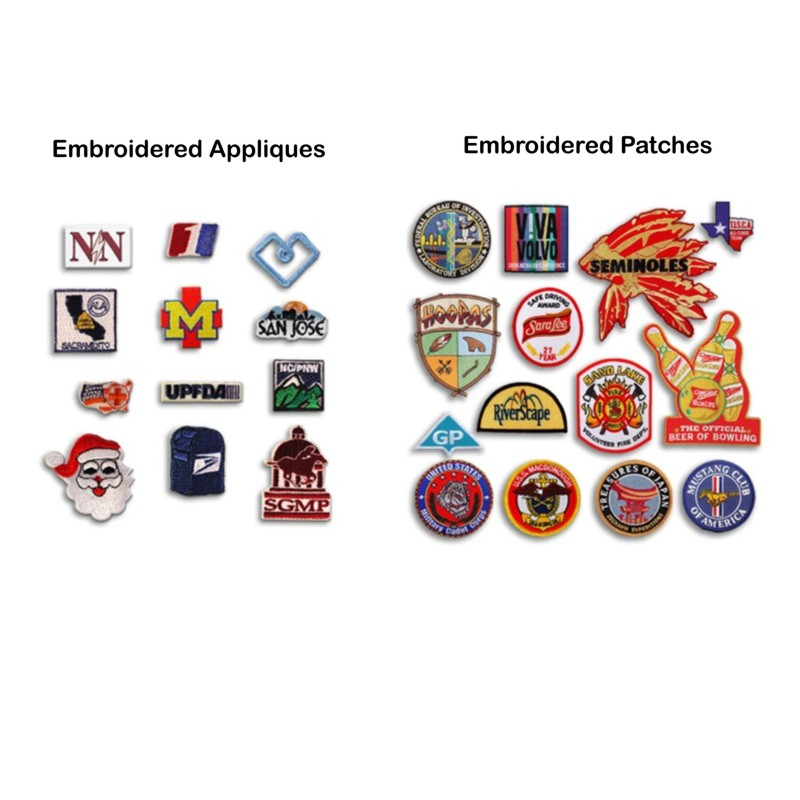 Custom personalized sew-on fabric patches with your name, logo, or