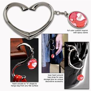 EMT PUR-HRT Heart Shaped Bag Hanger