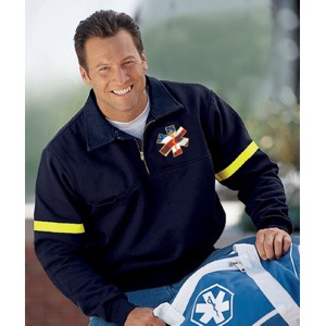 Game Sportswear 820-R Firefighters Workshirt with Reflective Tape