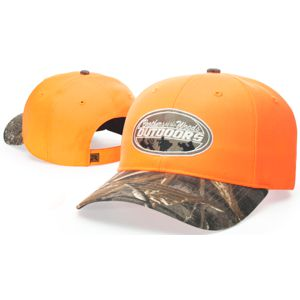 Richardson 883 Blaze Orange Hat with Camo Visor 54b9211aa63