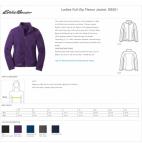 Eddie Bauer® EB201 Ladies Full Zip Fleece Pullover 8