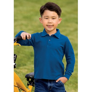 Port Authority® Y500LS Youth Silk Touch™ Sport Shirt
